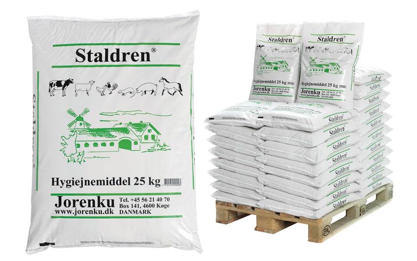 Staldren® - et effektivt tørrdesinfeksjonsmiddel